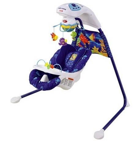 Детское кресло-качеля Fisher Price Морские чудеса (t2713)