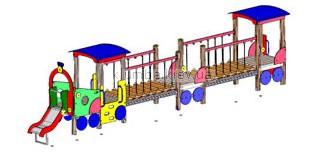 Детская площадка Inter Atletika Паровозики с двумя вагончиками