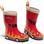 Резиновые сапожки для мальчиков «Пожарник» Kidorable