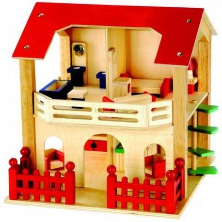 Детская игрушка Bino Кукольный дом с мебелью