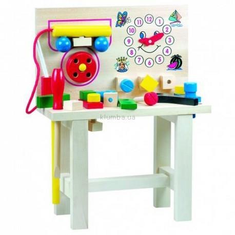 Детская игрушка Bino Стол для юного мастера с часами