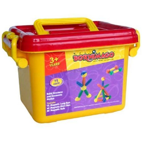 Детская игрушка Bornimago Магнитный конструктор (72 детали)