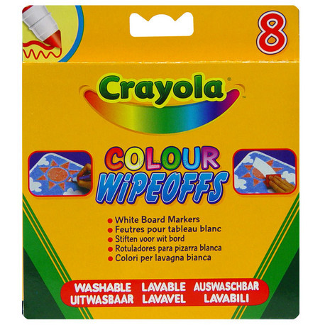 Детская игрушка Crayola 8 стираемых фломастеров для письма на доске