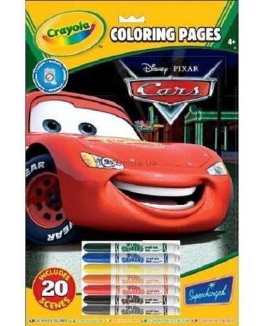 Детская игрушка Crayola Книга-раскраска с фломастерами Тачки