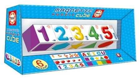 Детская игрушка Educa Магнитный пазл-куб Изучаем буквы и цифры
