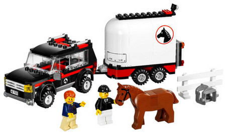 Детская игрушка Lego City 4WD с трейлером для лошадей  (7635)