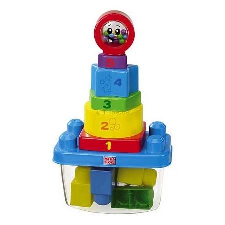Детская игрушка MEGA Bloks Пирамидка-неваляшка, Классика