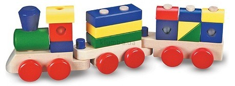 Детская игрушка Melissa&Doug Поезд с кубиками