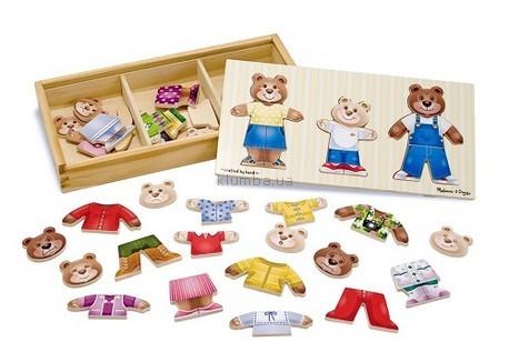 Детская игрушка Melissa&Doug Рамка-вкладыш Одень семью медведей