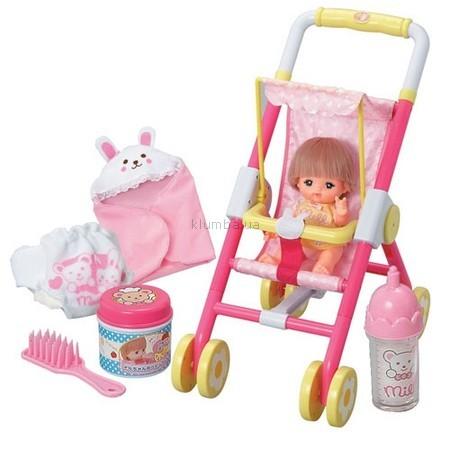 Детская игрушка Mell Прогулка малышки  Мелл с куклой, коляской и аксессуарами