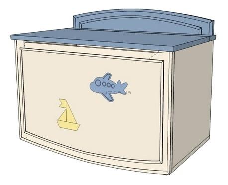 Детская игрушка MyBaby Ящик для игрушек Sea&Sky