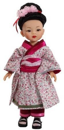 Детская игрушка Paola Reina Гейша в серо-розовом