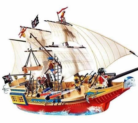 Детская игрушка Playmobil Большой пиратский галеон