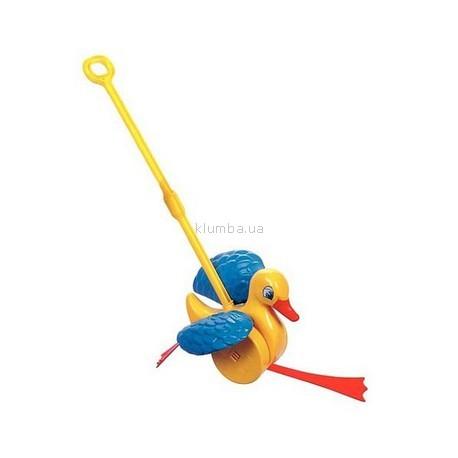 Детская игрушка Quercetti Каталка Веселый утенок