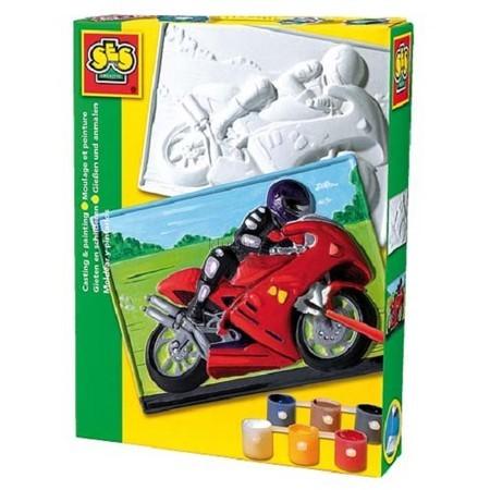 Детская игрушка Ses Набор для создания барельефа Мотоцикл