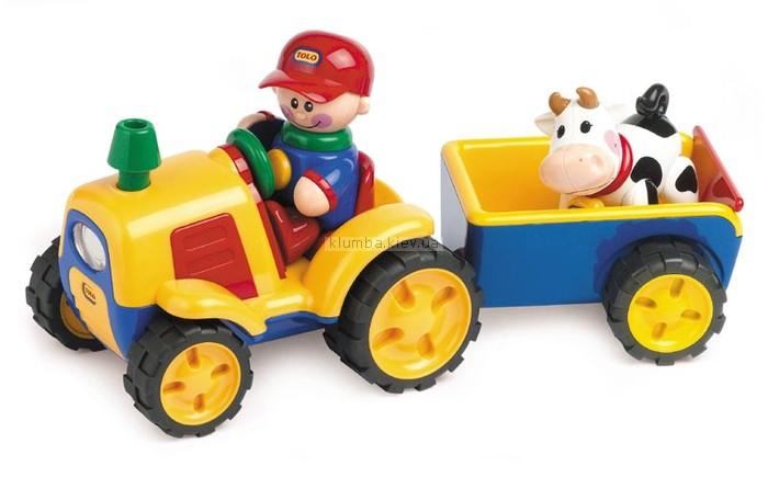 Детская игрушка Tolo Первые друзья, Трактор с прицепом