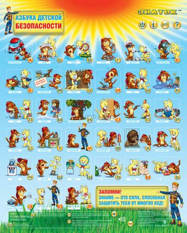 Детская игрушка Знаток Звуковой плакат  Азбука детской безопасности