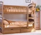 Двухъярусная кровать с ящиками и матрасами