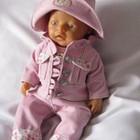 Одежда для кукол Анабель и Baby born. Весенний набор . Вельветовый розовый набор