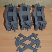 Lego Duplo  рельсы и стрелки.Лего оригинал.
