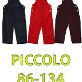 Полукомбинезоны вельвет+флис Piccolo