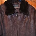 Кожаное пальто размер L , XL
