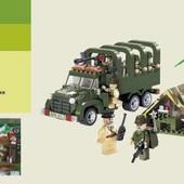 Конструктор 811 Полевая, военная база, Brick 308 деталей.
