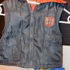 1 - 2 года 74 см Обалденно модная фирменная красивая теплая жилетка жилет унисекс