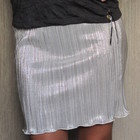 летняя серебряная юбка Jane Norman. разм.XS-S