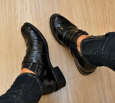 Стильные броги туфли мокасины стиль аль капоне фото №1