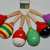 Деревянная игрушка Маракас погремушка разные