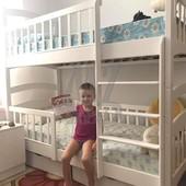 Кровать двухъярусная Карина Белая