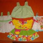 Летние платья, сарафанчики. Размер 62-68 (0- 6 месяцев).