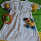 Фирменное байковое платье, можно как крестильная рубашка - разные цвета вышивки