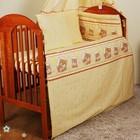 Новые Бортики, защита , охранка в детскую кроватку. Мишка в круге