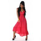 В наличии красивое коралловое платье-сарафан с немецкого сайта LIXANO