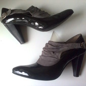 Туфли -ботильоны на 40р. 26,8 см Antonio Biaggi натур.лак.кожа+натур.замша, стиль, бренд