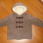 Вельветовое пальто на синтепоне, размер 86-92см