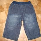 Продам джинсы Mazekea 6-9 мес пояс-резинка состояние новых