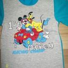 Утепленные пижамы с Микки и Плуто хлопок/начес на р80-92 Много др.одежды