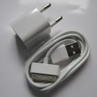 Универсальное зарядное устройство для iPhone 2, 3, 3g, 3gs, 4, 4g, 4s iPod 2in1 малая вилка белая