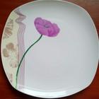 Тарелка квадратная Сиреневый мак