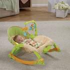 """Детское массажное кресло-качалка, шезлонг """"Лягушонок""""  Fisher Price с рождения до 4 лет"""