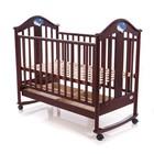 Кроватка деревянная Baby Care BC-433 темный орех ламель R