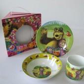 Набор детской посуды Маша, Тачки в подарочной упаковке - 6 видов