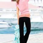Спортивные брюки Yoga Victoria's Secret с абрикосовым поясом