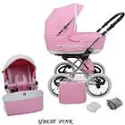 Универсальная коляска Tutek Tambero ECO кожа цвет Pink (розовый с белым)