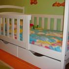Детская кровать Карина, 2 ящика, 2 съёмных бортика. Высший сорт дерева.