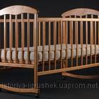 Кровать Наталка лакированная Ольха светлая