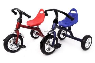 Детский трехколесный велосипед qat-t001 со стальной рамой в 2 цветах, новый фото №1